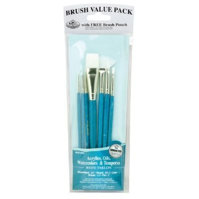 Royal & Langnickel RSET-9181 Teal Blue 7-Piece Brush Set 10 by Royal & Langnickel