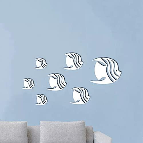 3D Diy etiqueta de la pared espejo extraíble vinilo arte mural decoración de la habitación
