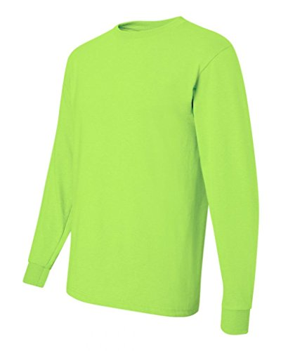 Jerzees. Safety Green. M. 29LSR. 00042463219582