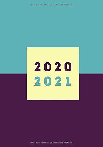 Tagesplaner 2020 2021 A5: 18 Monate Planer 2020/2021, 1 tag pro Seite, Kalender 2020 2021, Juli 2020 bis Dezember 2021, Planer ab Jahresmitte 2020, lila/türkis