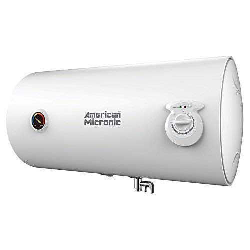 American Micronic- 25 Litre Imported Horizontal Water Heater, 8 Bar Pressure with Glass Lined Steel tank-AMI-WHH-25LDx