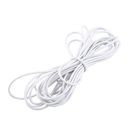 Neel Strong and Durable Elastic Elastic Rope Elastic Cord Tie DIY Craft Jewelry Making(white, 5mm, 10M)