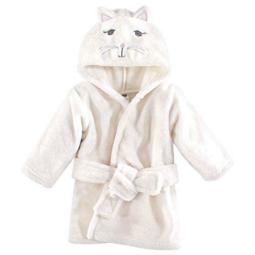 Hudson Baby Unisex Baby Plush Animal Face Bathrobe, Kitty, One Size