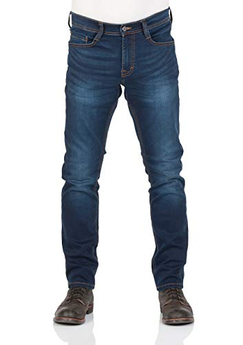 MUSTANG Herren Jeans Real X Oregon Tapered K Stretchhose Jeanshose Sweathose Denim 87% Baumwolle Blau Schwarz Grau, Größe:W 36 L 32, Farbauswahl:Blue Denim (982)