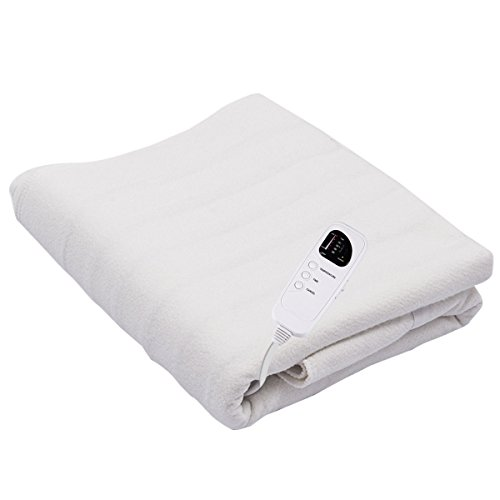 Giantex Massage Table Warmer Pad Digital Heat Settings Digital Timer Portable Auto Overheat Protection (Five Heat Settings)