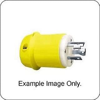 HUBBELL HBL27CM21 AC Plug NEMA L15-30 Male Yellow Corrosion Resistant