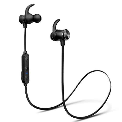 iTeknic Bluetooth Headphones Neckband Magnetic Wireless in-Ear Earbuds Sports Sweatproof Lightweight Earphones for Running Gym with Mic(24 Hours Play Time,...