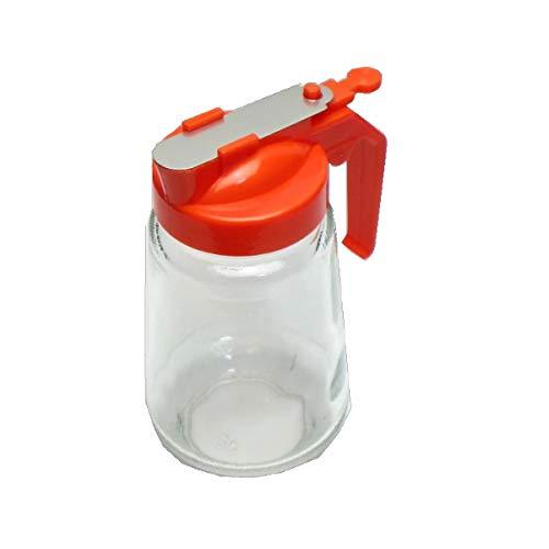 ハニーディスペンサー 350ml (オレンジ色) ハニーポット ハチミツ容器 はちみつ入れ
