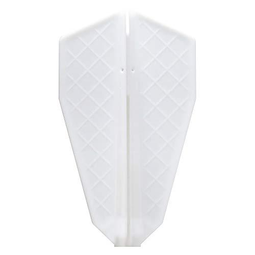 ダーツ フライト Fit Flight 【フィットフライト】 フィットフライト プロ S-1 ホワイト (Fit Flight Pro S-1 White) | 成型フライト fif9201