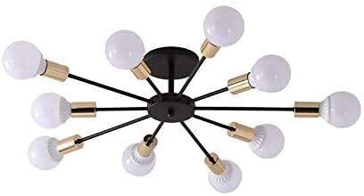 Luminarias, 212, Lámpara de techo SPUTNIK Lámpara colgante moderna 6-Luz armada con bulbo desnudo E26 / E27 Sencillo para sala de estar Habitación Dormitorio Salón Balcón Barra de la tienda, Fixtures