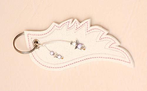 Schlüsselanhänger Engelsflügel, lila groß Anhänger, made in Germany, Glitzer, Kunstleder, Engel, Herz, Miracle Perlen Weihnachtsgeschenk