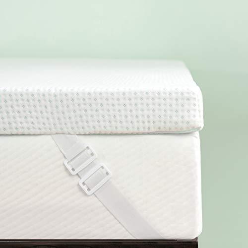 Subrtex - Coprimaterasso in memory foam, 5 cm, con rivestimento in bambù ipoallergenico (5 cm, letto matrimoniale UE)