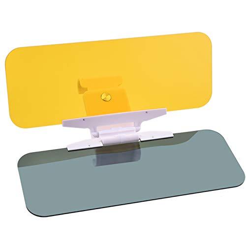 Extensor de Visera para Coche Anti Glare Visera Antideslumbrante Diurna y Nocturna Auto Coche Sol Visera Día Noche 2 en 1 Visera de Bloque Anti-UV para Coche, De Anochecer, Oscuridad, Nieve, Rayos UV