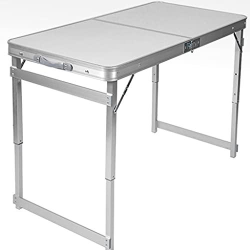 DXIN Plegable Camping Mesa, Mesas Portátiles Set, Mesa Camping Plegable Aluminio, Mesa Altura Ajustable, Puede Soportar 100 Kg para Acampar Al Aire Libre (Set : White with Holes)