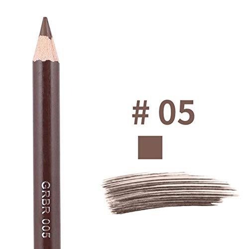 NMT Crayon à Sourcils à Double tête imprimé léopard avec Pinceau à Sourcils Teinte Cosmétique Outil de Maquillage Longue durée, 05