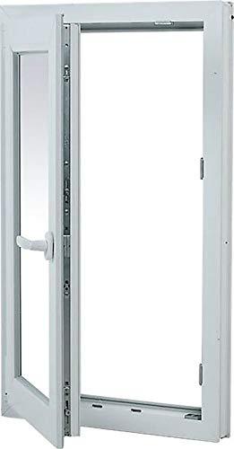 TermProtect | Ventana PVC 50 cm x 100 cm | REGALO Garras de fijación | Oscilobatiente | Alto aislamiento termico y acustico | Practicable | Resistente a humedad | Apertura Izquierda