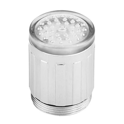 Sensor de Temperatura del Grifo de Agua LED de 3 Colores, Luz LED Cambiante de Colores Control de Detección de Temperatura del Grifo de Agua Pieza de Repuesto del Grifo del Fregadero Accesorio de Baño