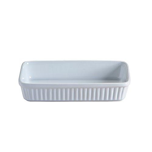 Mason Cash, Pirofila Ovale e Piatto da Portata in Ceramica, 21 x 12 x 4 cm, Colore Bianco, Ceramica, Bianco, 23 x 14 x 5 cm