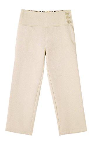 Bienzoe Niña Uniformes Escolares Poliéster Cintura Ajustable Pantalon Caqui 4