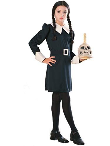 Rubies Addams Family Kids Mittwoch Kostüm, Medium, Alter 5 - 7 Jahre, Größe 127 - 137 cm