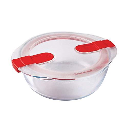 Pyrex 207PH00 Cook & Heat rund glas Frischhaltedose mit Deckel, durchsichtig