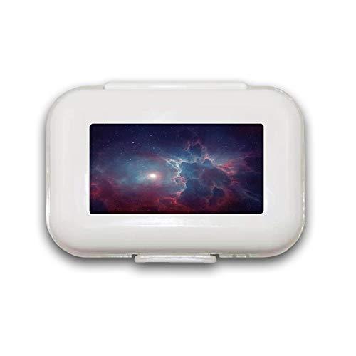 Sunok Mooie Aap En Banaan Pill Box Pill Case Pill Organizer Decoratieve Boxen Pill Box voor Pocket of Purse - 8 Compartiment Pill Box/Pill case