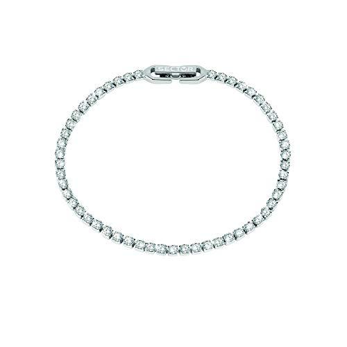 Sector No Limits Bracciale da donna, Collezione TENNIS, lunghezza 18 cm, in acciaio e cristalli - SANN11