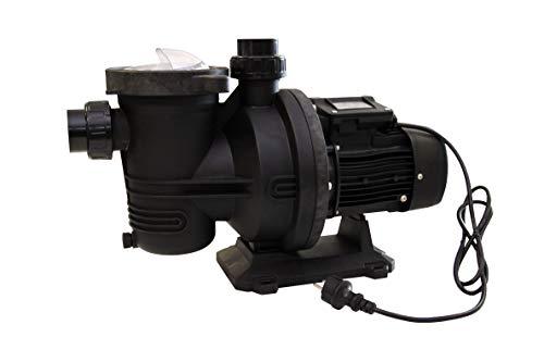 EDENEA Pompe Filtration Piscine 1CV 16m3/h - Couvercle QuickLock sans Vis - Fournie avec raccords 50 - (à Utiliser en complément d'un Filtre à Sable ou à Cartouche)