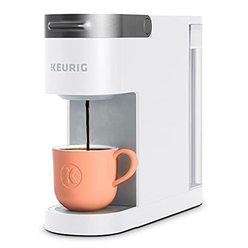 Keurig K-Slim Coffee Maker, Single Serve K-Cup Pod Coffee Brewer, 8 to 12 Oz Brew Sizes, White