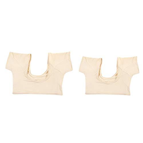 SDENSHI 2Pcs Washable Reusable Sweat Pad Shirt Body Armpits Sweat Absorbing Underwear Undershirt for Women Underarm Sweat Shields
