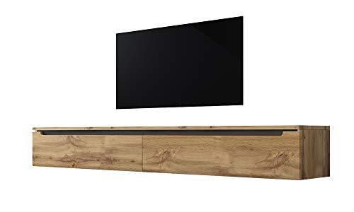 Swift – Fernsehschrank/Tv-Lowboard In Holzoptik Wotan Eiche Matt Hochglanz Hängend Oder Stehend 180 Cm