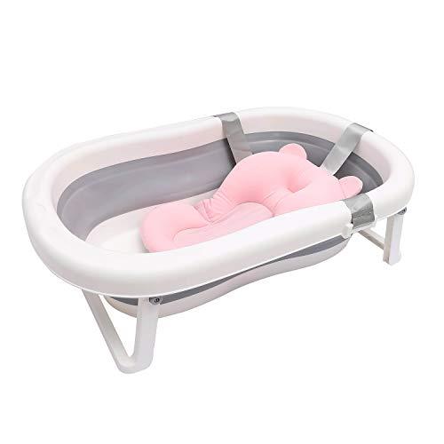 Faltbare Baby-Badewanne für Kleinkinder und Kleinkinder, faltbares Duschbecken mit Badenetz