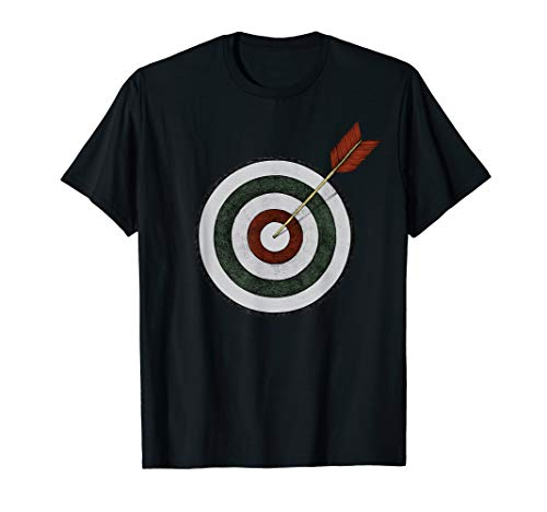 Bogenschießen Zielscheibe mit Pfeil Fasching & Karneval T-Shirt