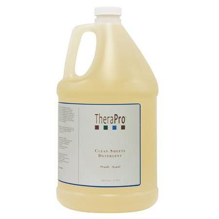 TheraPro Clean Sheets Laundry Detergent for Massage Table Sheets and Spa Linens Professional Grade, Removes Tough Stains Left by Massage Oil, Lotion and Cream - Clean Scent - 1 Gallon