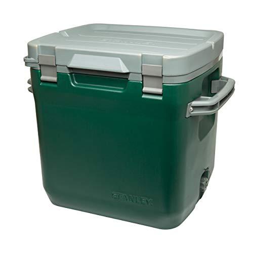 Stanley Adventure Outdoor Cooler - Camping Kühlbox   Doppelwandige Schaumisolierung   BPA-frei  Deckel fungiert auch als Sitz   Robuste Kühlbox ohne Strom   Auslaufsicher, 15.1L, Grün