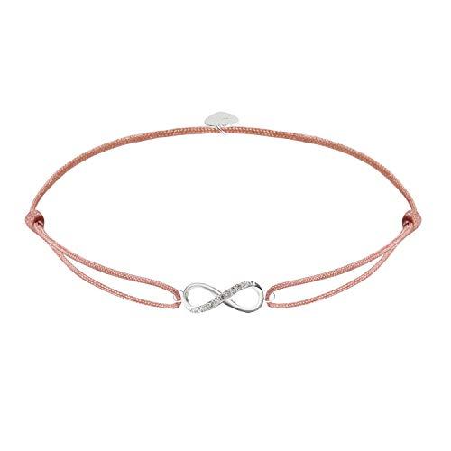 Pulsera Infinity de plata de ley 925 para mujer, con símbolo de infinito, con circonita, pulsera trenzada a mano, regalo de cumpleaños