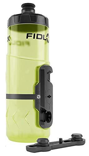 Fidlock Bottle Twist Trinkflasche gelb/Yellow durchsichtig + Flaschenhalter + Gravity Kit Magnet (NEU!)