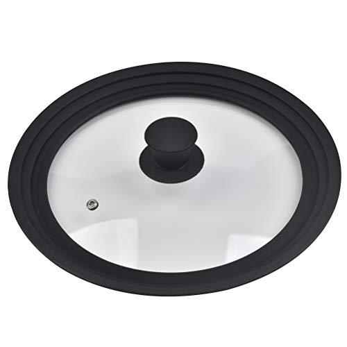 OFNMY Coperchio casseruola - Coperchio in vetro antispruzzo per diametro 24 26 28 cm per padella, pentole, padelle