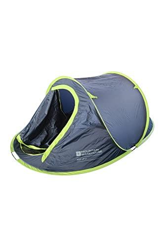 Mountain Warehouse Pop-up-Zelt - 3-Personen-Campingzelt, Wurfzelt, Wasserabweisend, leichte Montage, leichtes Schlafzelt - Für Sommerfestivals, Urlaub Marineblau Einheitsgröße