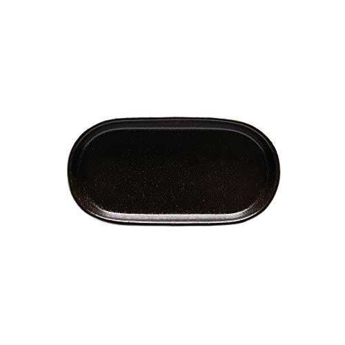 Costa Nova Colección Nótos Vajilla Gres Set de 2 Bandejas Ovaladas 18 cm, Latitude Black