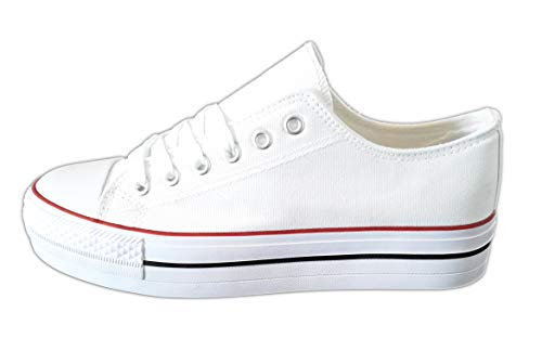 converse grises plataforma mujer