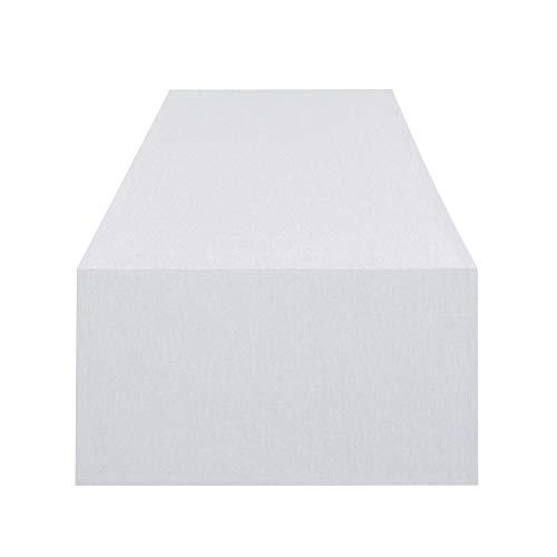 Tischläufer Wien, weiß, 40x140 cm, Fleckschutz, Tischläufer für das ganze Jahr