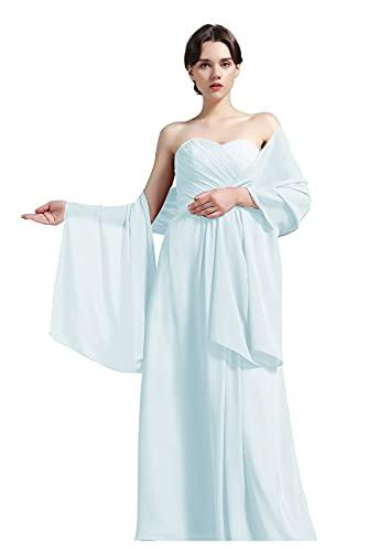 BEAUTELICATE Schal Damen Chiffon Schal Sommer Stola Rechteck für Abendkleid Party Hochzeit Braut
