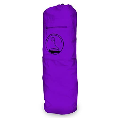 KlarGeist, tappetino da yoga e borsa da yoga/borsa per tappetino da yoga – controllato e certificato per la vostra salute (borsa da yoga extra large – viola)