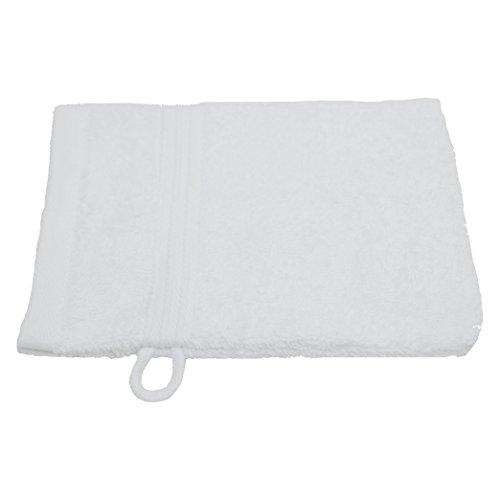 Julie Julsen Gants de toilette sans produits chimiques - 600 g/m² - Blanc - 15 x 21 cm - 100 % coton - Certifié Öko-Tex Std 100 - Doux et absorbant - Lavable en machine