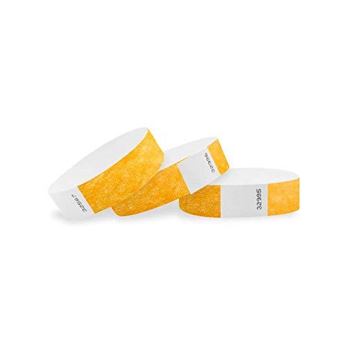Wristco Goldenrod 3/10,2cm Tyvek Wristbands 500 Count Goldenrod