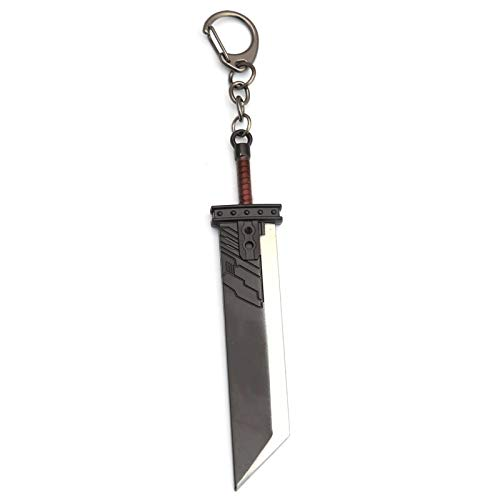 MINTUAN Juego Final Fantasy Remake Cloud Strife Buster Sword Llavero Hombres Metal Zack Fair Arma Llavero Colgante Cosplay