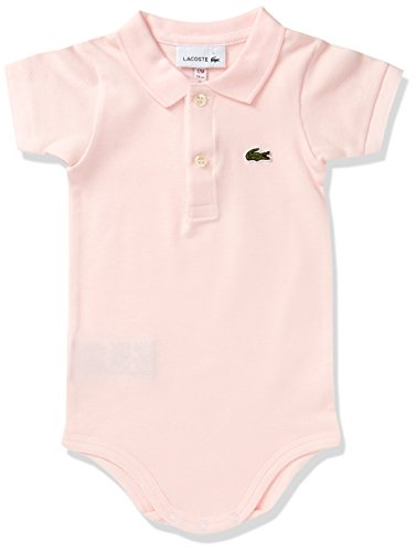 Lacoste 4J3563 Body, Rose (Multicolore Flamant), 12 Meses para Bebés