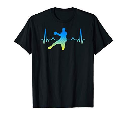 Handballspieler Geschenk EKG Herzschlag Handball T-Shirt