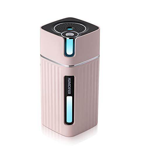 George luchtbevochtiger auto aroma diffuser 300 ml, luchtbevochtiger Cube kleine etherische olie, stil, USB, LED nachtlampje, luchtbevochtiger ultrasone Taotronics Medium roze